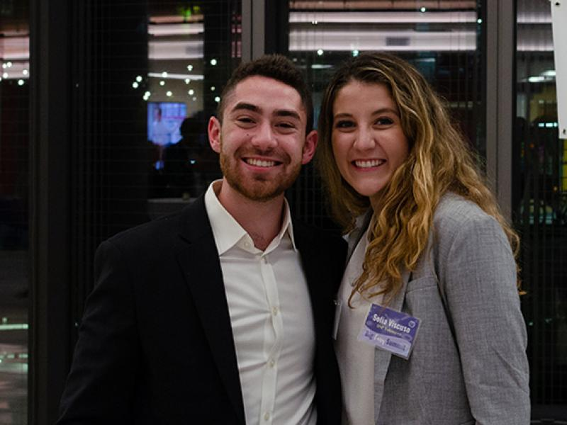 Sofia Viscuso (BSM '22) and Matthew Friedman (BSM '23) of Rize