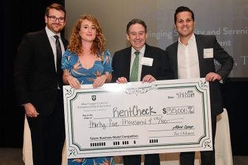 RentCheck receives top prize in 2019 Tulane Business Model Competition.
