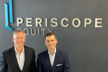 Freeman alumni Steve Jarmel (BSM '93), left, and John Findlay (BSM '07) of Periscope Equity